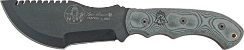 Tops Knives Tom Brown Tracker Black Linen Micarta Handle