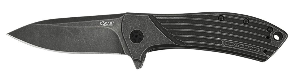 Zero Tolerance 0801BW Flipper Titanium BlackWash Knife